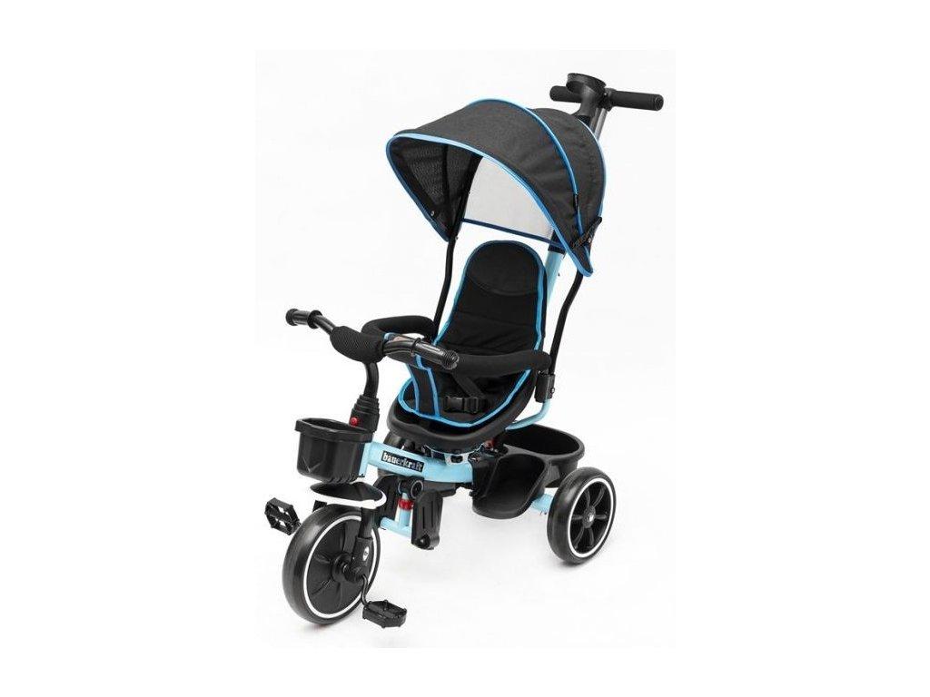 Ecotoys trikolka s otocnym sedadlem X360 svetle modra