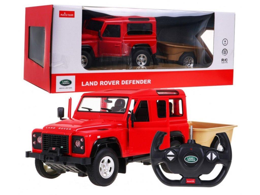 auto na dalkove ovladani Land Rover Defender cervene 1 14