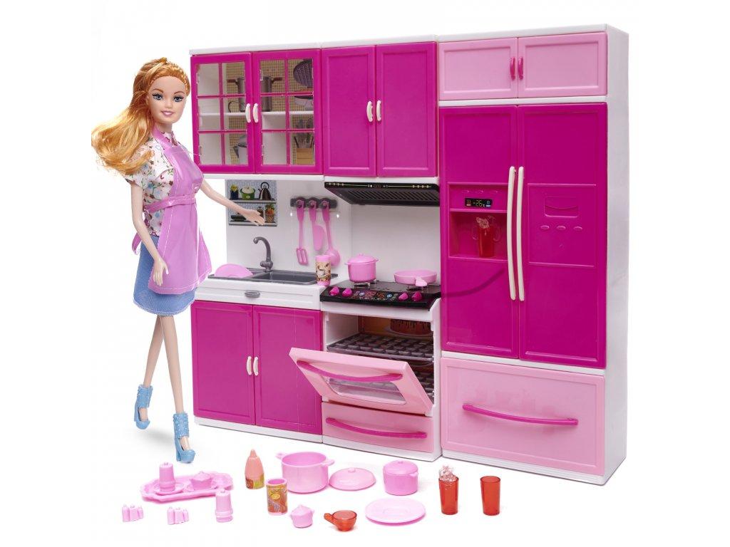 detska kuchynka Happy kitchen 3 casti a panenka