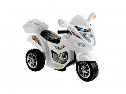 Dětská elektrická tříkolka Racing White