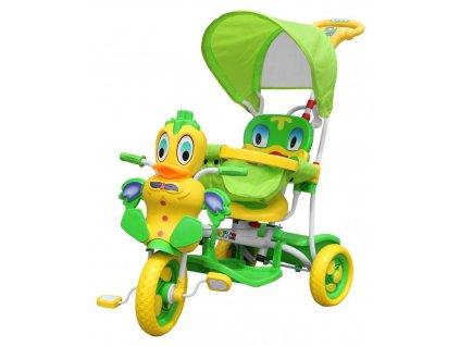 majlo toys trikolka kacenka zelena