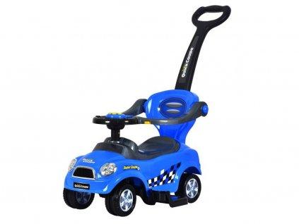 Odrážedlo Super Coupe s vodící tyčí 3v1 modre