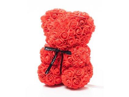 Medvídek z růží červený Rose Bear 25 cm