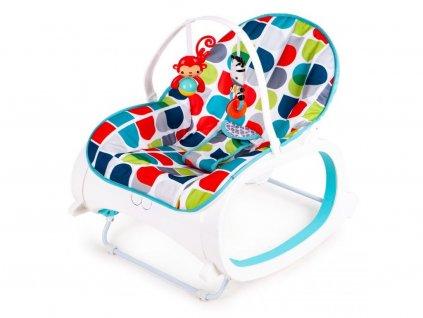Ecotoys kojenecké lehátko 3v1 s vibracemi a hudbou Animal 10