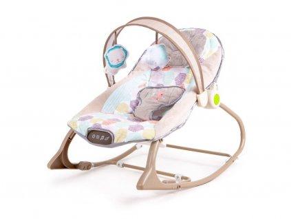Ecotoys kojenecké lehátko 3v1 s vibracemi a hudbou Animal 11