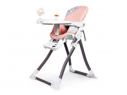 Ecotoys jídelní židlička 2v1 Myška růžová