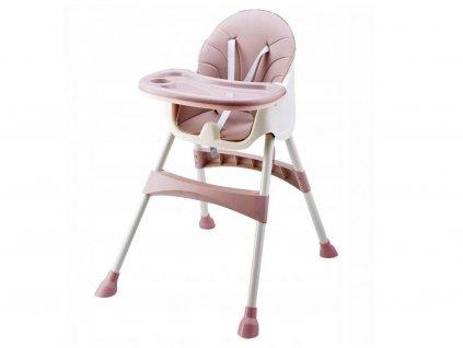 Ecotoys jídelní židlička 2v1 Pink HC823 růžová
