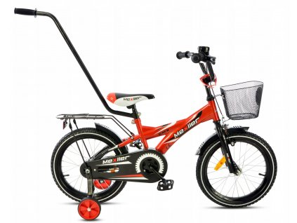"""Mexller dětské kolo BMX 16"""" s vodící tyčí červená 2020"""