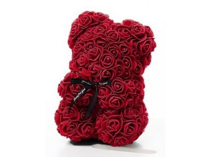 Medvídek z růží bordo Rose Bear 25 cm
