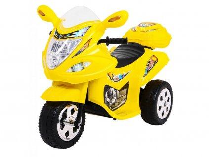 Dětská elektrická tříkolka Racing Yellow