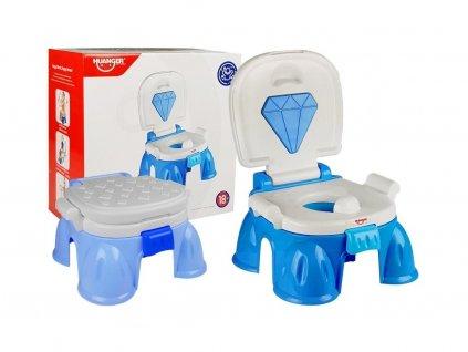 Haunger interaktivní hrající nočník 3v1 Diamant modrý