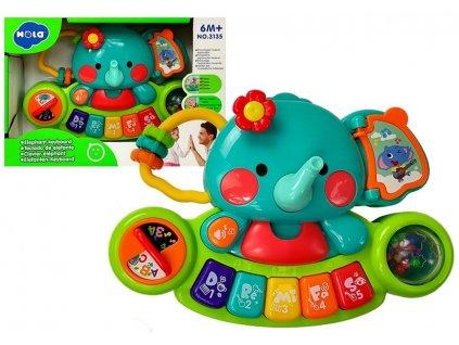 Interaktivni pianko Huile Toys slonik