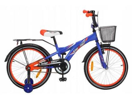 Mexller detske kolo s vodici tyci 20 modro oranzova