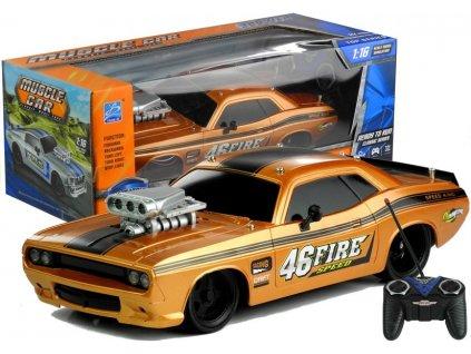 Auto na dalkove ovladani Muscle Car 1 16 bronzove 7