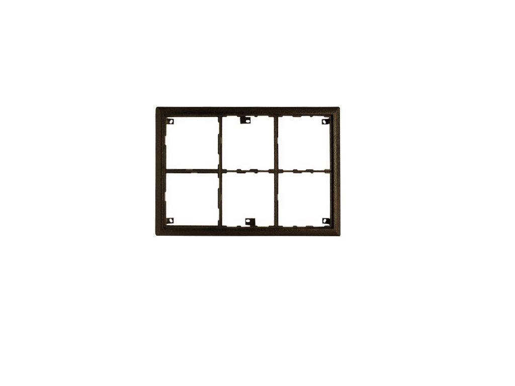 Montážny rám 2x3B - KARAT, antika strieborná