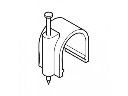 Káblová príchytka 5.0mm,   100ks