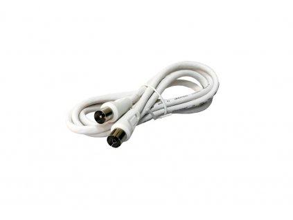 Účastnícka šnúra IEC 1.5m, priame konektory, biela