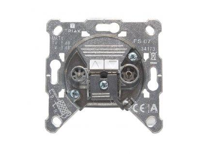 Priebežná zásuvka Triax FS07 TV/R 8dB