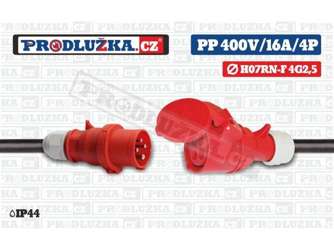 PP 400V 16A IP44 4P