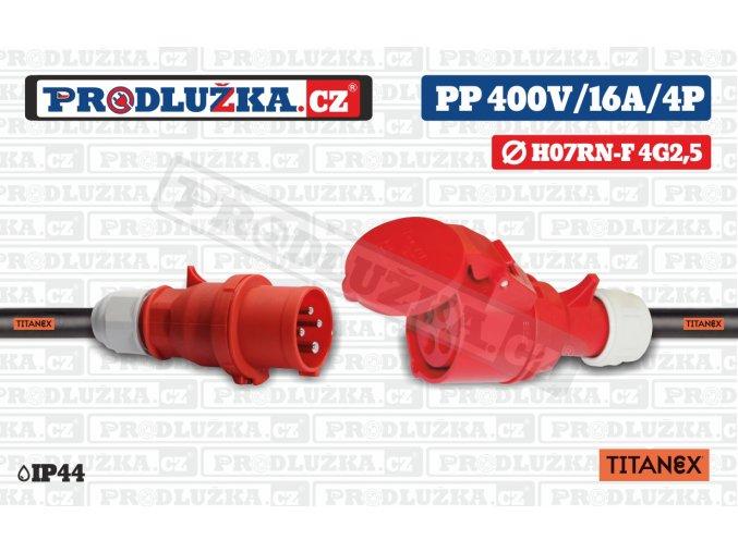 PP 400V 16A IP44 4P TITANEX