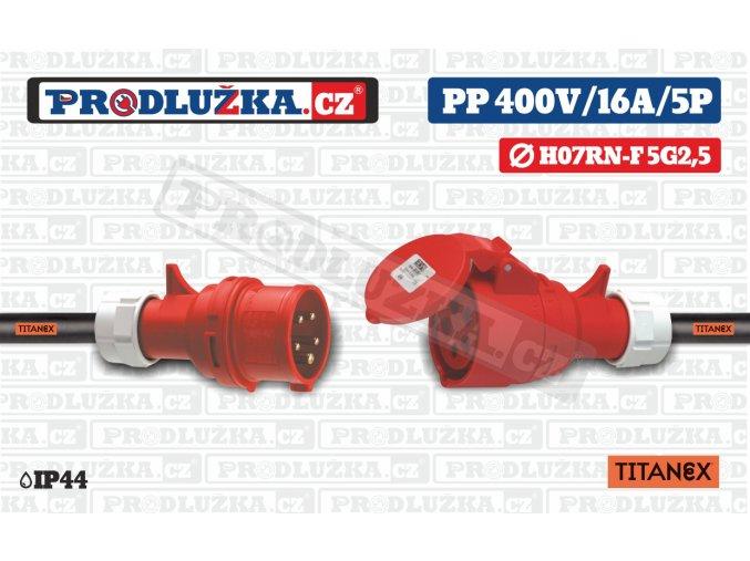 PP 400V 16A IP44 5P TITANEX