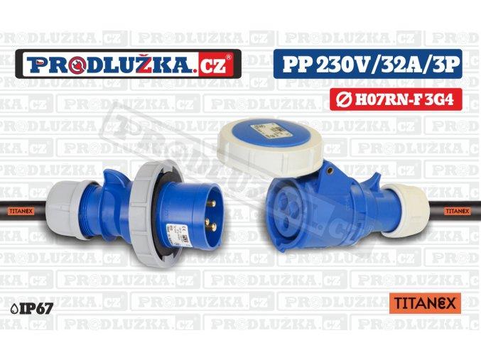 PP 230V 32A IP67 3P TITANEX