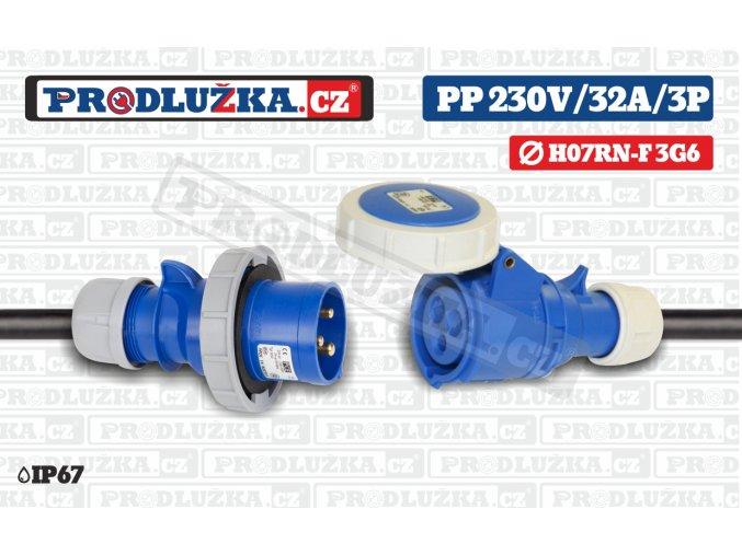 PP 230V 32A IP67 3P 6
