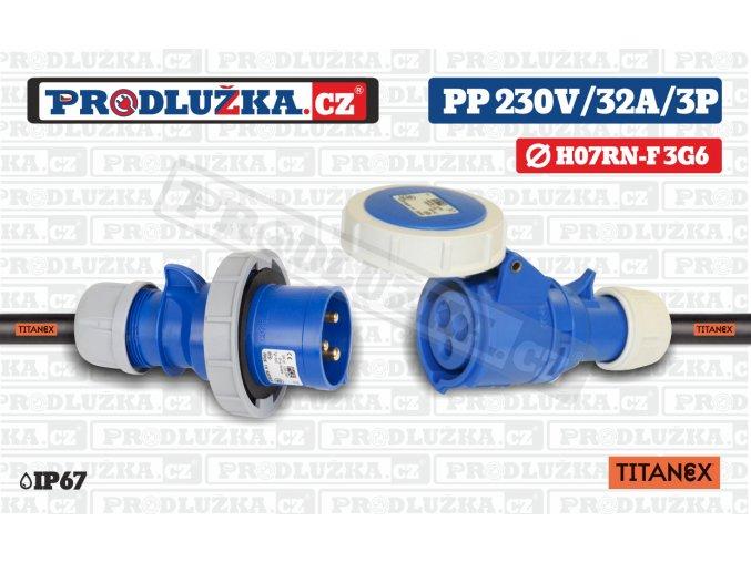 PP 230V 32A IP67 3P 6 TITANEX