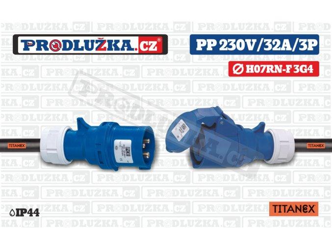 PP 230V 32A IP44 3P 4 TITANEX