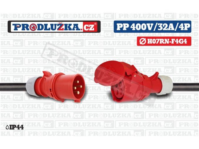 PP 400V 32A IP44 4P 4