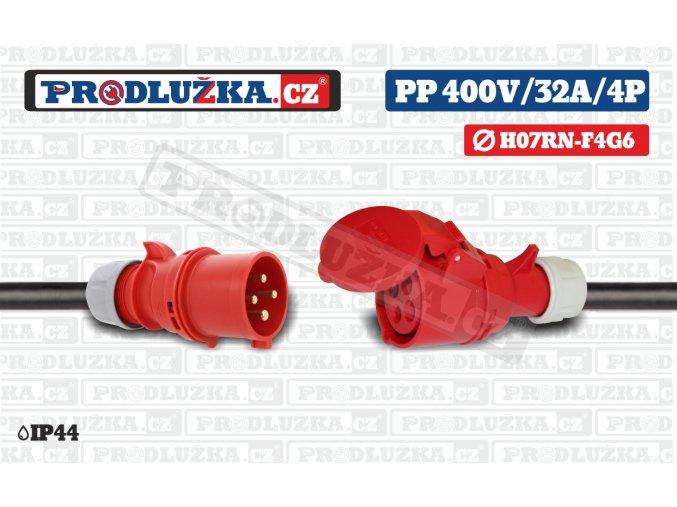 PP 400V 32A IP44 4P 6