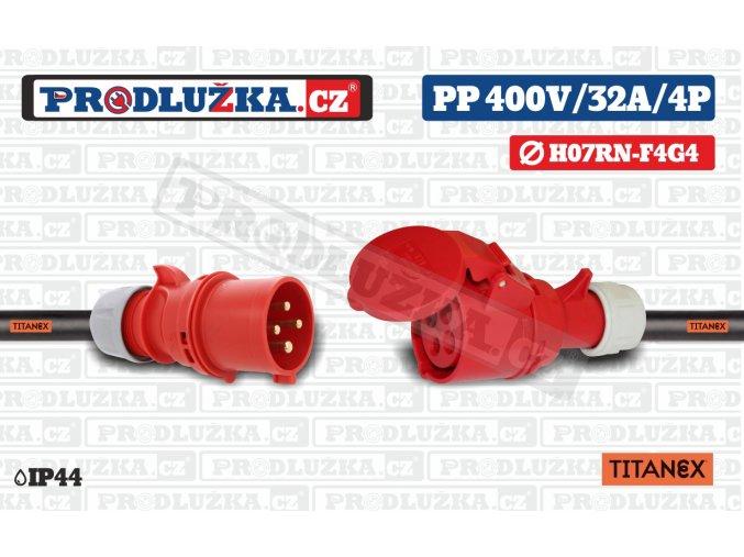 PP 400V 32A IP44 4P 4 TITANEX