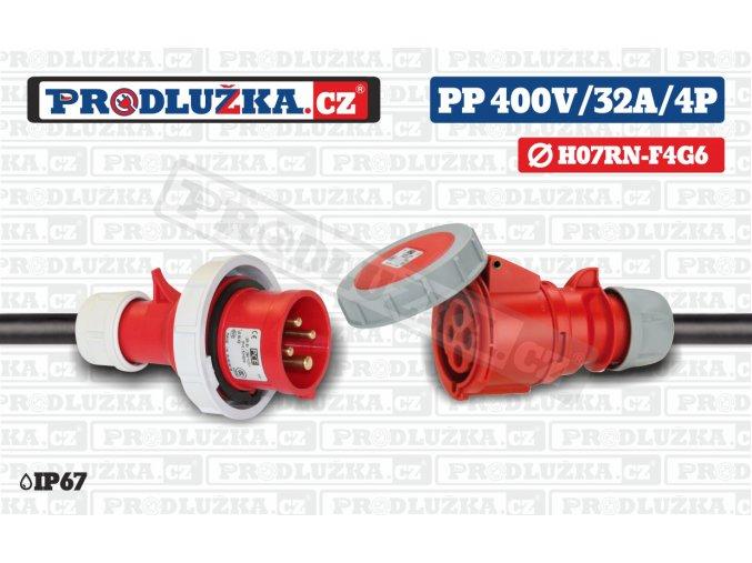 PP 400V 32A IP67 4P 6