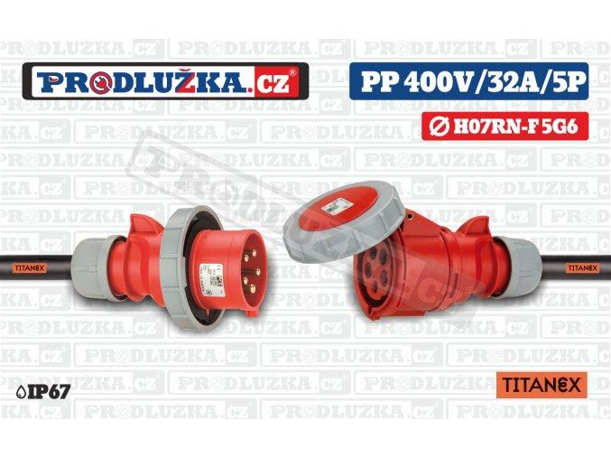 PP 400V 32A IP67 5P 6 TITANEX