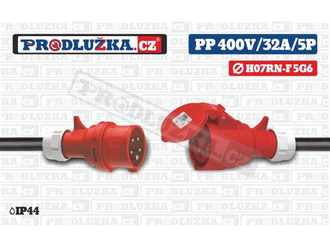 PP 400V 32A IP44 5P 6