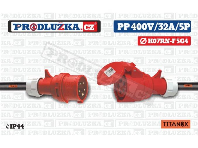 PP 400V 32A IP44 5P TITANEX