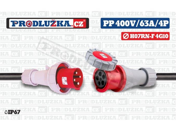 PP 400V 63A IP67 4P 10