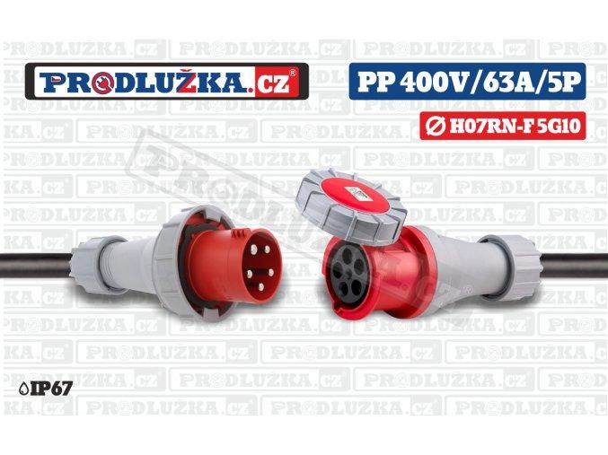 PP 400V 63A IP67 5P 10