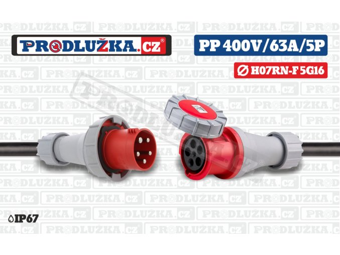 PP 400V 63A IP67 5P 16