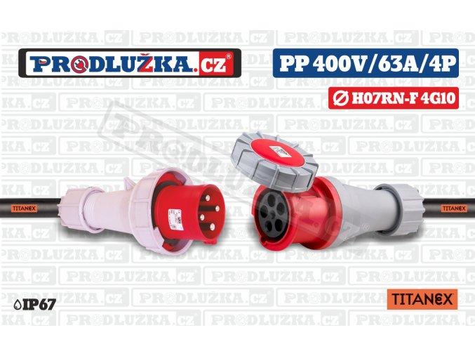 PP 400V 63A IP67 4P 10 TITANEX