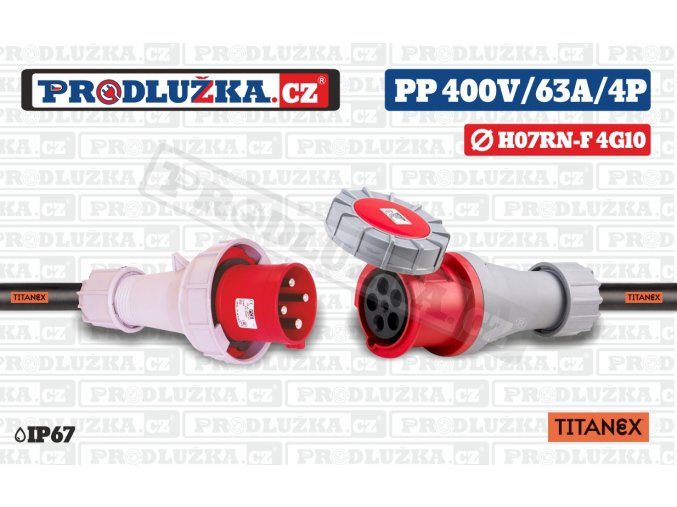 PP 400V 63A IP67 4P 16 TITANEX
