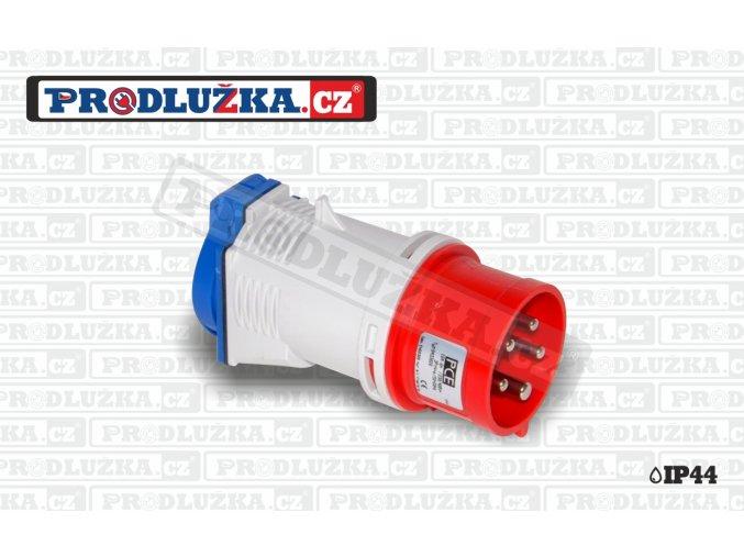 1x zásuvka CZ 230V/16A/3p-1x přívodka CEE 230V/16A/5p IP44