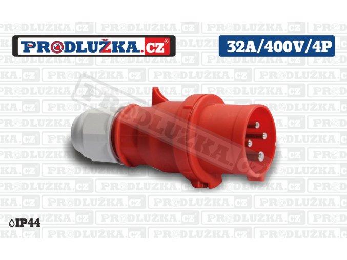 vidlice 32A 400V 4P IP44