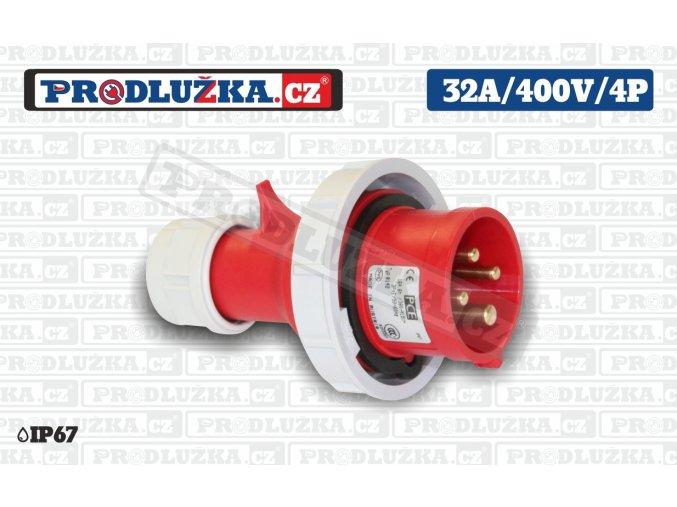 vidlice 32A 400V 4P IP67