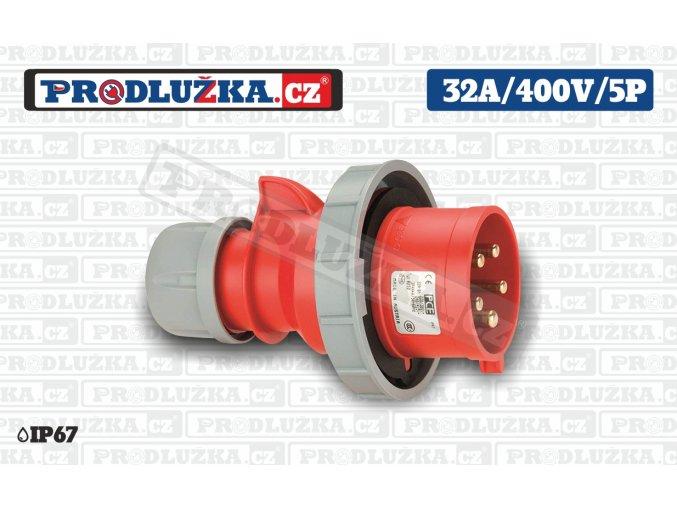 vidlice 32A 400V 5P IP67