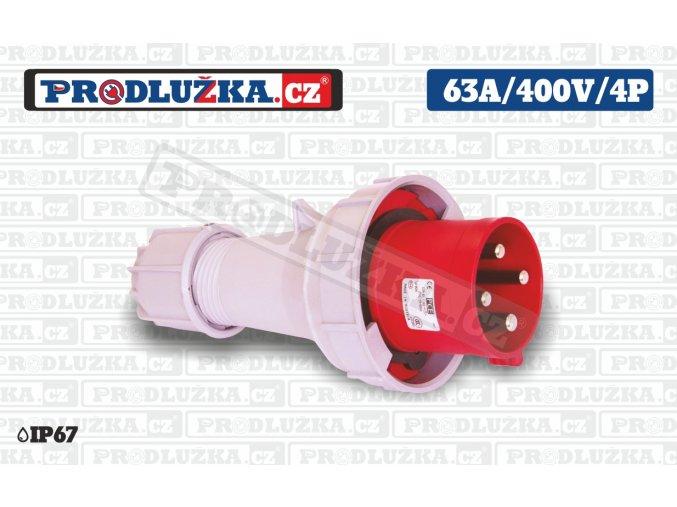 vidlice 63A 400V 4P IP67