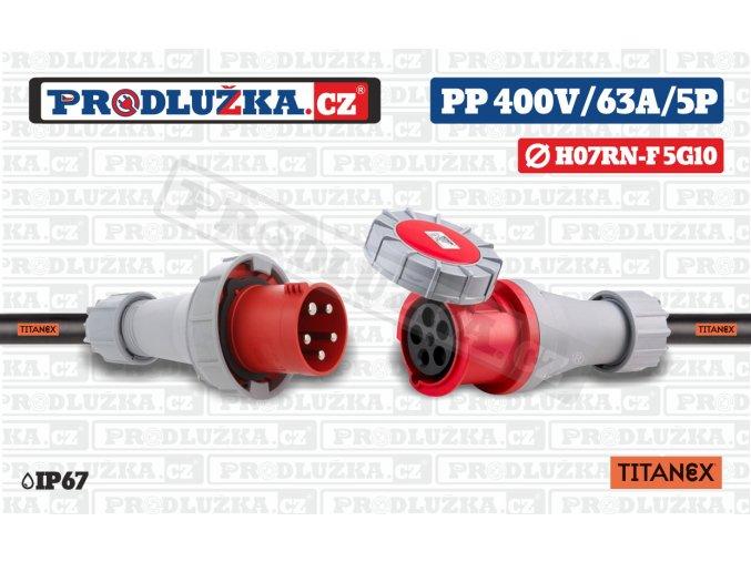 PP 400V 63A IP67 5P 10 TITANEX