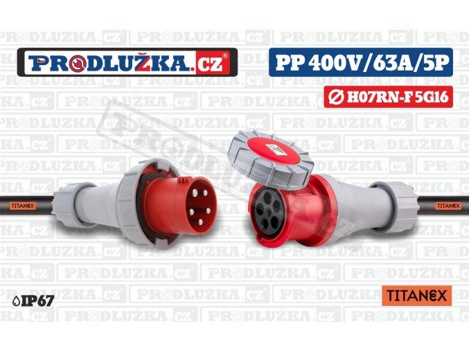PP 400V 63A IP67 5P 16 TITANEX