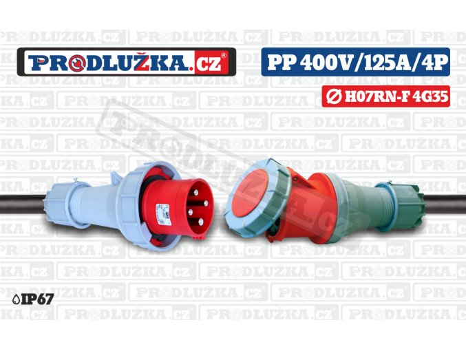 PP 400V 125A IP67 4P 35
