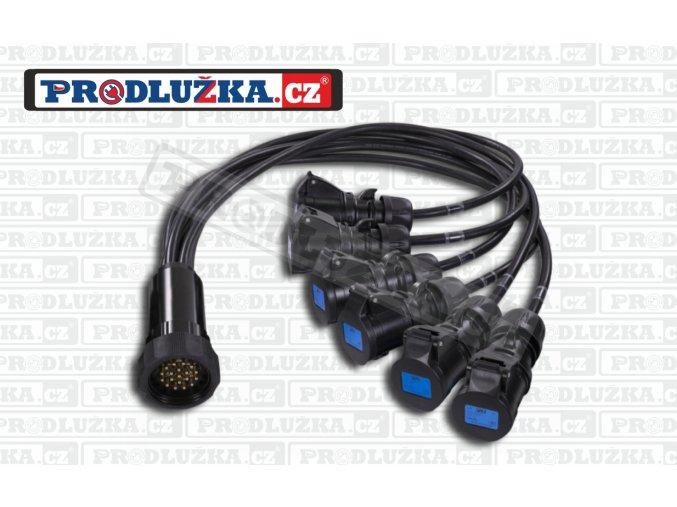 """Socapex """"spider"""" vidlice 19P+N 6x spojka 230V/16A/3p"""